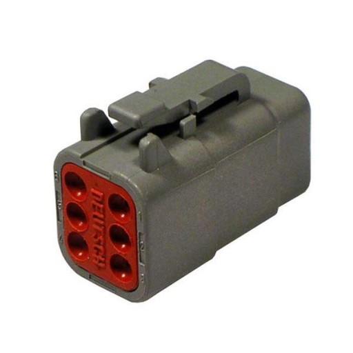 Plug, 6 Pos, Size 20, DTM06-6S