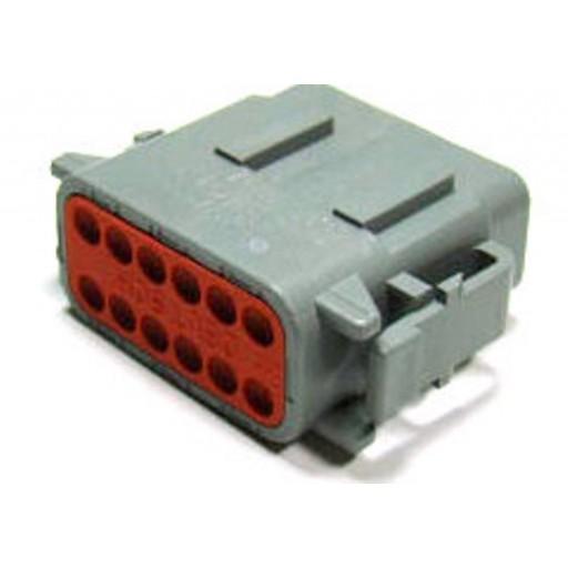 "Plug, 12 Contact (DTM06-12SA) Size 20, Key ""A"""