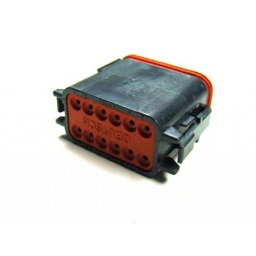 "Plug, 12 Contact, DTM06-12SB, Size 20, Key ""B"""