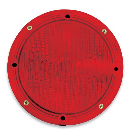 "Stop & Tail, Single V-LED, 7""  Round, Red Lens"