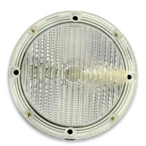 "Backup, Single V-LED, 7"" Round, Clear Lens"