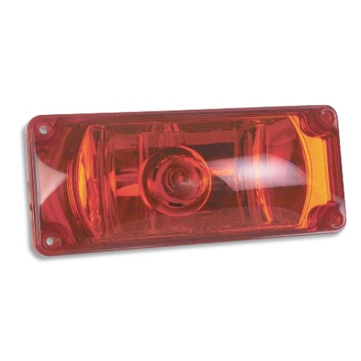 Emergency Vehicle Warning Lights, 3x7 Halogen #795X, Panel/Red
