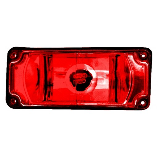 Strobe 3x7 Warning, Panel, Red
