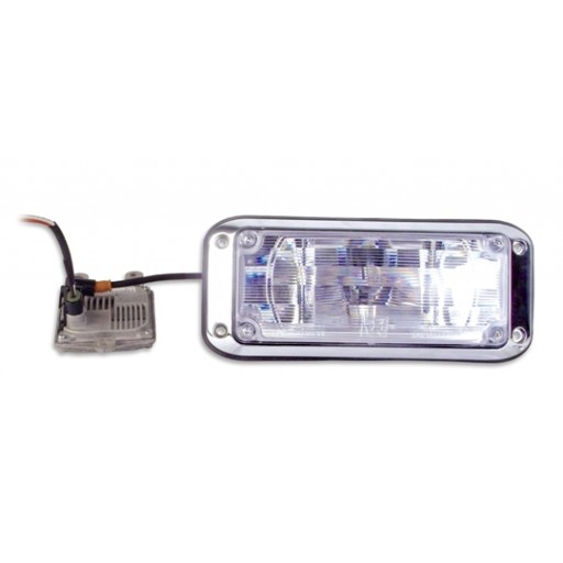 HID Scene Lighting, 3x7, Bezel, Clear