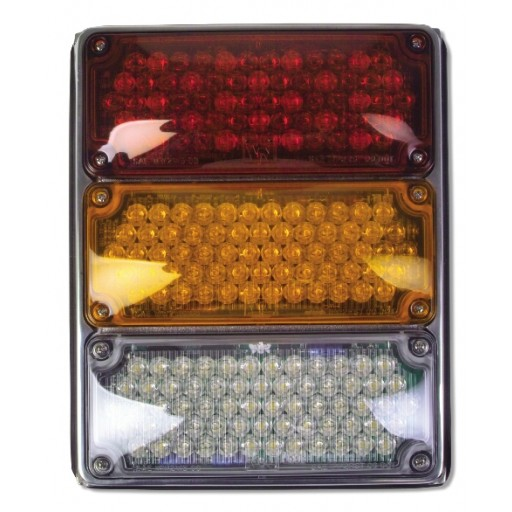 Tri, 3x7 Lamps, LED Stop & Tail, Seq Turn & Backup, w/Packard-Rh