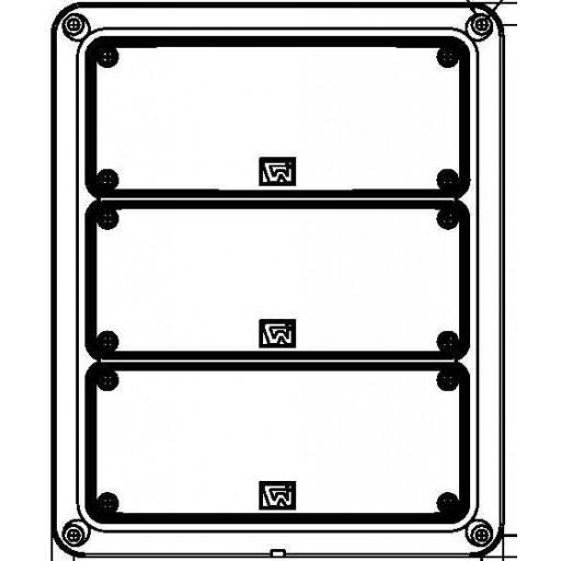Tri, 3x7 Lamps, Stop & Tail, Turn, w/Arrow w/Packard-Lh