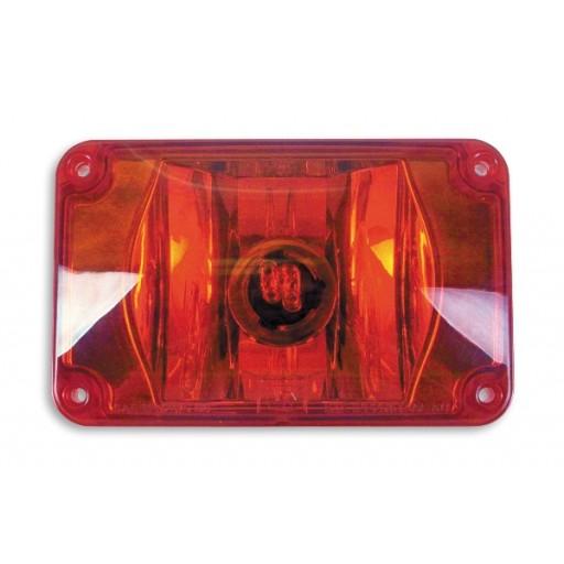 Warning, 4x6 Halogen #795X, Panel, Red