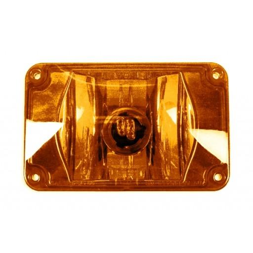 Warning, 4x6 Halogen #795X, Panel, Amber