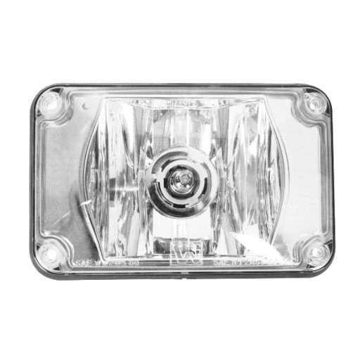 Warning, 4x6 Halogen #795X, Panel, Clear