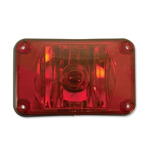 Lens Assy 4x6 Halogen Red
