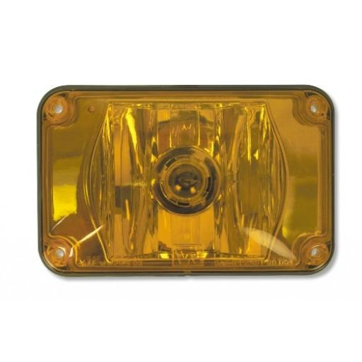 Lens Assy, 4x6 Halogen Amber