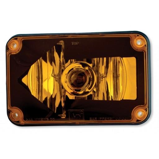 Turn, 4x6, w/Arrow Lh, Panel, #1156, Amber