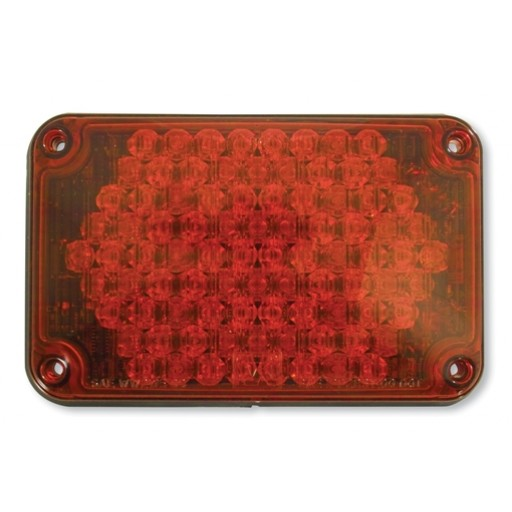 LED, 4x6 Warning, Panel, Red