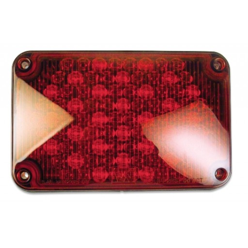 LED, 4x6 Stop & Tail, Panel, Red
