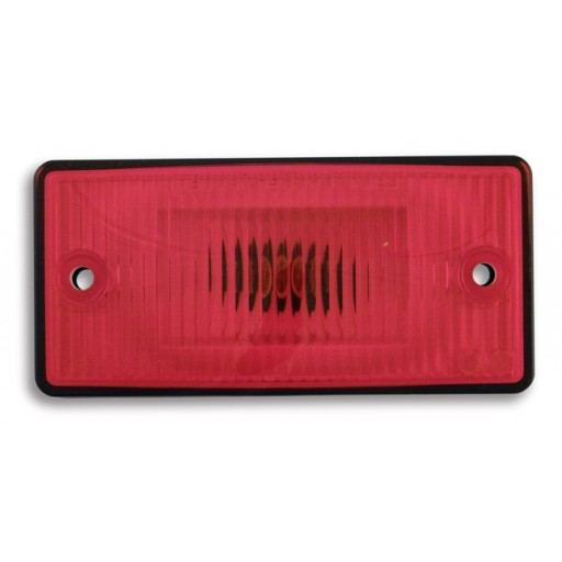 Marker Lights, #168 Flush Mount, Red