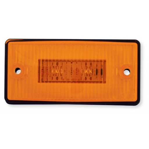 Marker Lights, LED Flush Mount 35 degree Tilt Back, Amber