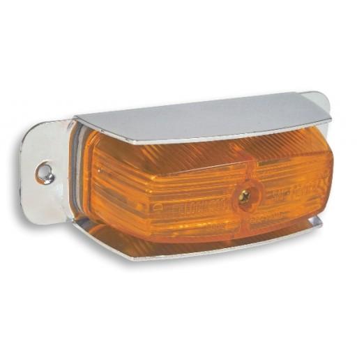 Marker w/Shield 2 bulb/1Wire Amber