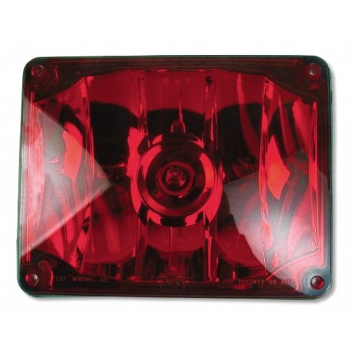 Warning, 7x9 Halogen #795X, Panel, Red