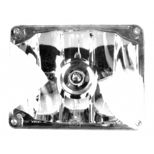 Warning, 7x9 Halogen #795X, Panel, Clear