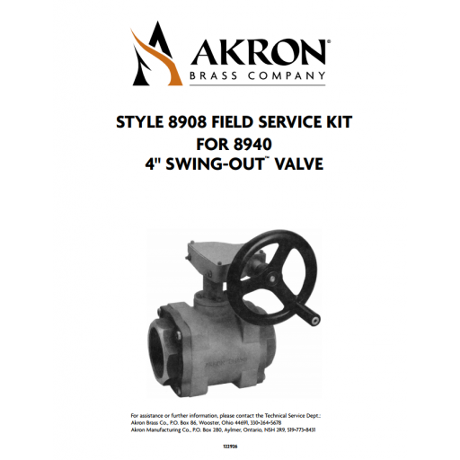 """Field Service/Conversion Kit with Composite Ball for 4"""" Swing-Out Valves"""