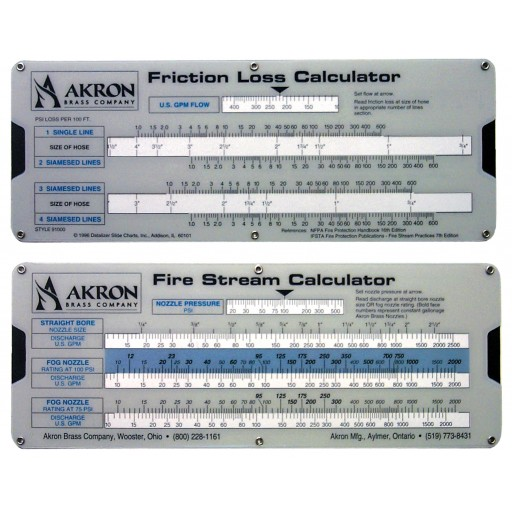 Fire Stream/Friction Loss Calculator