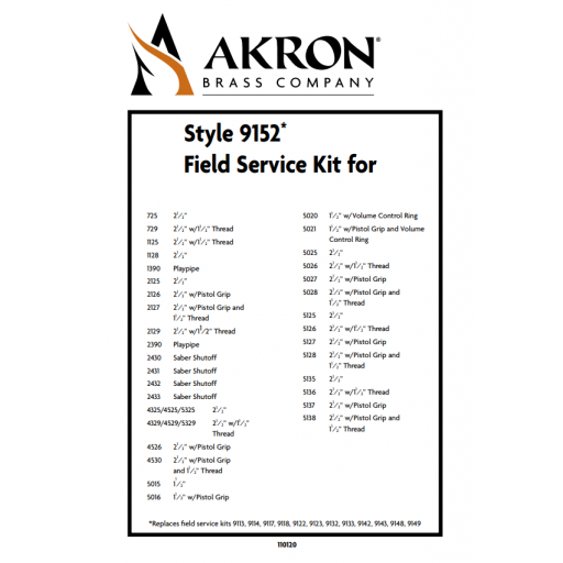 Field Service Kit for Style 2390, 2125, 2430