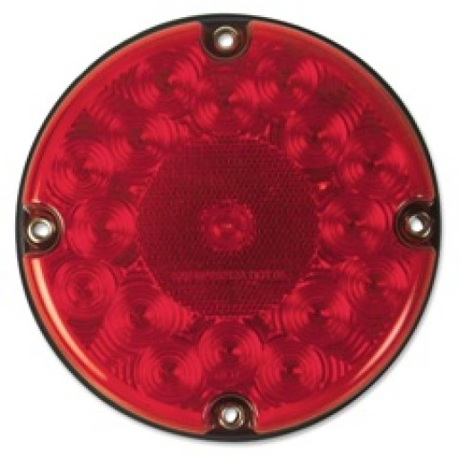 "7"" LED Stop & Tail w/Reflex, RED"