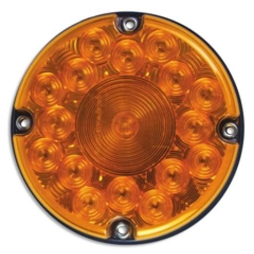 "7"" LED Park & Turn w/Reflex, Amber"