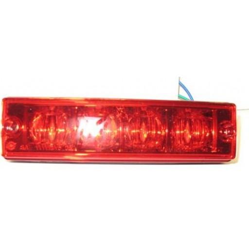 2x6 Diamondback LED Warning Lamp Head, Red Lens