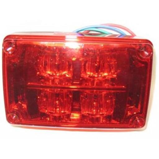 3x4 Diamondback LED Warning Lamp Head, Red Lens
