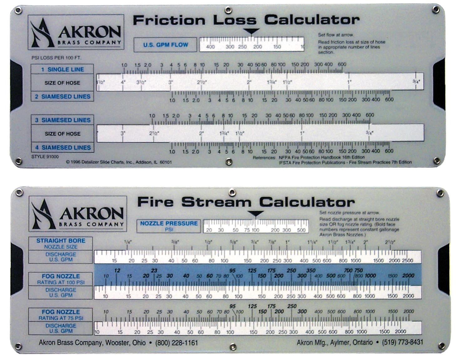 Fire Stream/Friction Loss Calculator