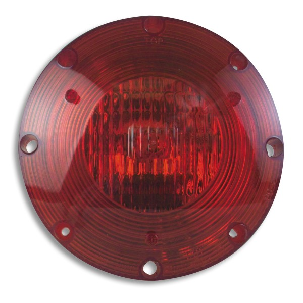 Lens/Reflector, Red, 1080 Series Warning Lamps