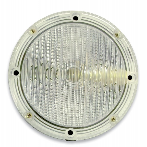 "Backup, Single V-LED, 7"" Round, Clear Lens"
