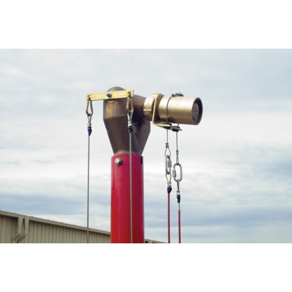 Manual Elevated Monitor 20' Tower with monitor, nozzle and cables