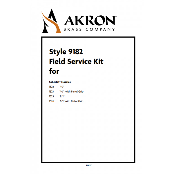 Field Service Kit for Style 1522, 1523, 1525, 1526