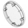 0C10-2401-30 Frosted Clear lens for 8049 Series LED dome lamps