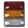 Tri, 3x7 Lamps, LED Stop & Tail, Seq Turn & Backup, w/Packard-Rh