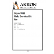 Field Service Kit for Style 1512, 1513, 1515, 1520