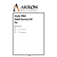 Field Service Kit for Style 1532, 1533, 1535, 1536