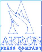 AB logo stacked white